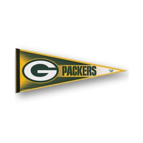 Green Bay Packers Felt Pennant - GREEN BAY PACKERS OFFICIAL LOGO FULL SIZE FELT PENNANT