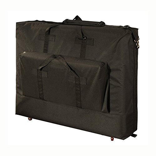 Royal Massage Deluxe Black Universal Massage Table Carry Case w/Wheels (W Table Massage Case)