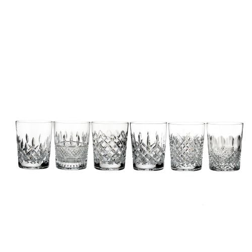 Waterford Lismore Connoisseur Heritage Set of 6 Double Old-Fashioned (Lismore Old Fashioned Glass)