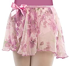 Children\'s Chiffon Floral Dance Skirt (Lavender Large/XL Child)