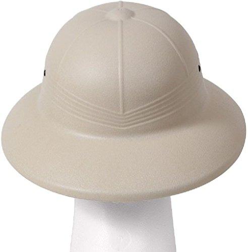 76799d5ce4bc8 Amazon.com  Pith Helmet Vietnam Style Light Weight Hard Plastic Safari Pith  Helmet  Clothing