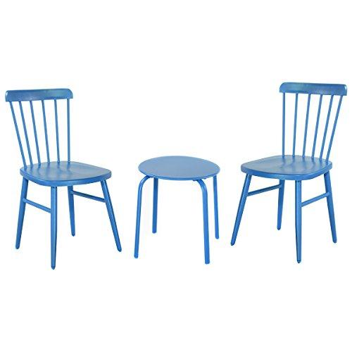 Coffee Table Garden Set: Giantex 3Pcs Outdoor Bistro Round Table Chair Furniture