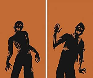 """WOWindow Posters Ghoulies Silhouettes Halloween Window Decoration Two 34.5""""x60"""" posters"""