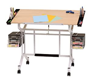 Studio designs pro craft station in white with for Restirador de madera