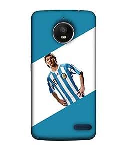 ColorKing Football messi Argentina 08 Multicolor shell case cover for Motorola Moto E4