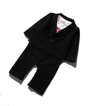 27db92e5348cc フォーマル ロンパース スーツ セット タキシード ベビー 赤ちゃん 子供服 ボーイズ 結婚式 パーティー 出産祝い 写真