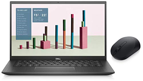 Dell Inspiron 5408 14 inch FHD Laptop (10th Gen i5-1035G1/8 GB/512 SSD/2 Gb NVIDIA Graphics/Win 10 + MS Office H&S 2019/Pebble) + Dell Mobile Wireless Mouse MS3320W