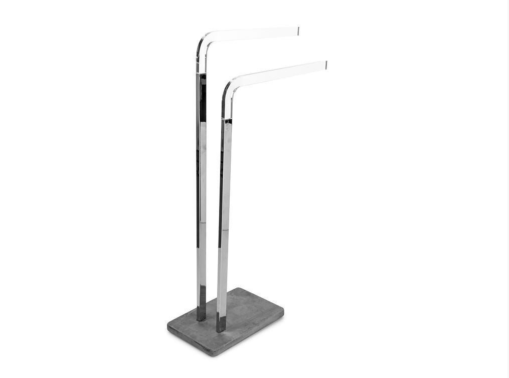 CP Standing Double Towel Rack for Bathroom Spa Towel Hanger, Brass