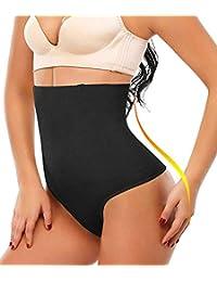 SEXYWG Women High-Waist Thong Shapewear Waist Cincher Girdle Tummy Control Slimmer