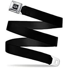 """Buckle-Down Seatbelt Belt - Black - 1.5"""" Wide - 24-38 Inches in Length"""