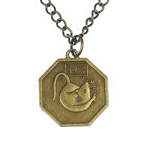 Style ARThouse Year of The Rat, Chinese Zodiac Octagonal Pendant on Chain; 18 Inches Adjustable ()