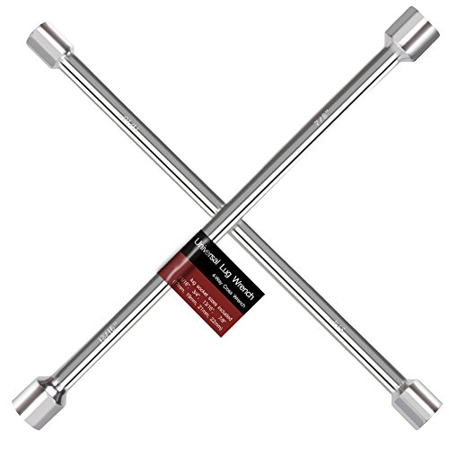 YITAMOTOR Universal Lug Wrench, 18 4-Way Heavy Duty Anti-Slip Cross Wrench