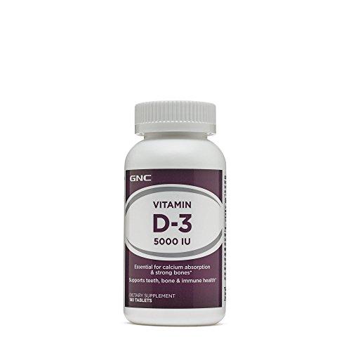 GNC Vitamin D3 5000 IU 180 Tablets