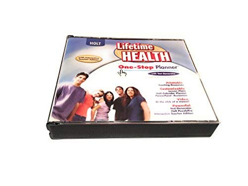 Lifetime Health: One-Stop Planner CD-ROM with Test Generator (One Stop Planner Cd Rom With Test Generator)