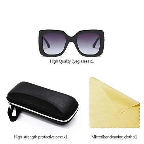 KINDOYO Mode 01 Grand Protection Lunettes surdimensionnées monture soleil UV400 de Lunettes Femmes à gamme de Haut Style wIaPqTrI