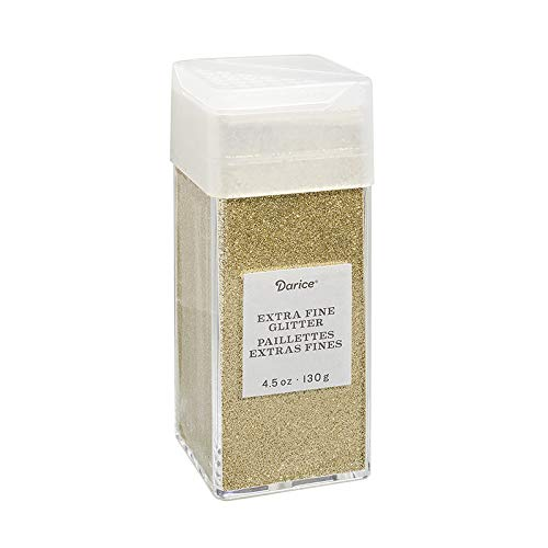 Darice 30029668 Extra Fine, Gold, 4.5 Ounces Glitter, ()