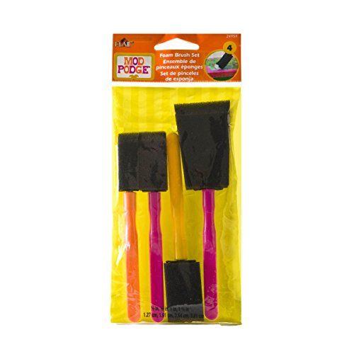 Mod Podge FBA Scrapbooking Foam Brush Set, 24959 (4-Piece), Assorted -