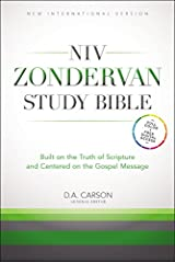 NIV Zondervan Study Bible, Hardcover: Built on the Truth of Scripture and Centered on the Gospel Message Hardcover