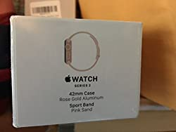 Apple - Apple Watch Series 2 42mm Rose Gold Aluminum Case Pink Sand Sport Band - Rose Gold Aluminum Mq142lla