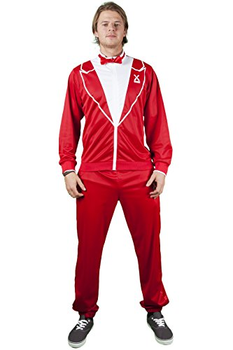 Traxedo Men's - The Red Dragon, Red, (Red Tuxedo Costumes)