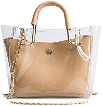 透明なチェーンバッグ、レディースシンプルなファッショントレンドポータブルメッセンジャーバッグ大容量防水バッグの毎日の仕事、ショッピング、デイリー旅行、ショルダーバッグ