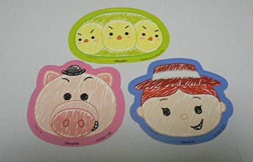 HKDL 香港ディズニー ツムツム手書き風 シール ステッカー ピクサー トイストーリー、お豆三兄弟、ハム、ジェシー
