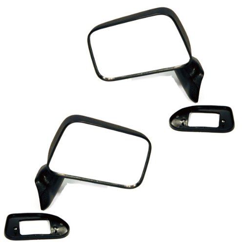 1990 90 Toyota Pickup Truck (1987-1995 Toyota Pickup Truck & 1987-1989 4Runner Manual Black Textured Folding (Door Mount With Vent Window) Rear View Mirror Pair Set: Left Driver AND Right Passenger Side (1987 87 1988 88 1989 89 1990 90 1991 91 1992 92 1993 93 1994 94 1995 95))