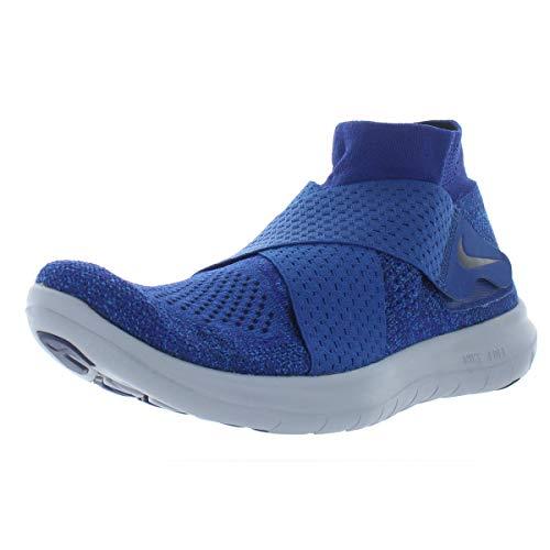 Nike Women's Free RN Motion FK 2017 Running Shoe (9 B(M) US, Binary Blue/Black-Obsidian) (Nike Free Tennis Shoes Women)