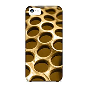 Anti-scratch And Shatterproof Metal Background Grid Circles Texture Phone Case For Iphone 5c/ High Quality Tpu Case