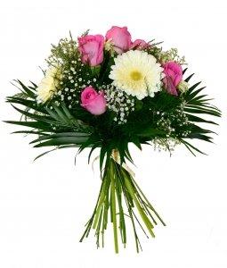 Ramo Flores Naturales Muy Frescas Elaborado Con Rosas De Color Rosa