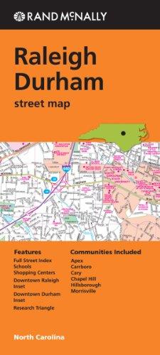 Rand McNally Raleigh Durham, North Carolina Street Map