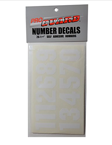 Proguard Number Decals, White