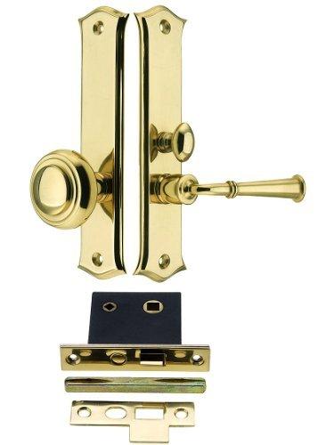 Deltana Polished Bolt - Deltana SDL688U3 Amsterdam Screen Door Mortise Lock Set with 1 1/2