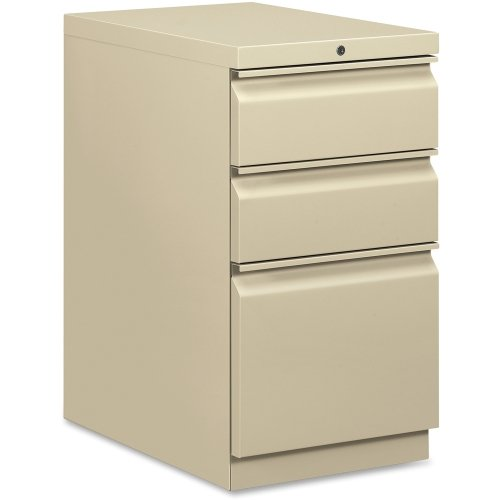 High Security Filing Cabinets (HON Brigade R Pull File Cabinet - 15quot; x 22.9quot; x 28quot; - 3 x Box, File Drawer(s) - Letter, Legal - Security Lock, Ball-bearing Suspension - Putty )