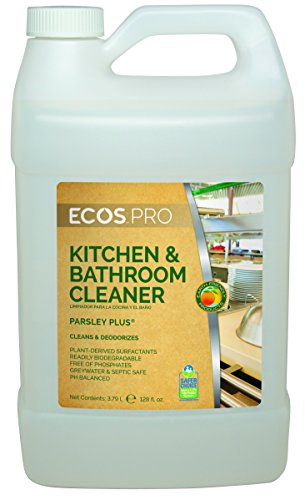 Degreaser 1 Gallon Bottle - Earth Friendly Products Proline PL9746/04 Parsley Plus All-Purpose Kitchen-Bathroom Cleaner-Degreaser, 1 gallon Bottles (Case of 4)