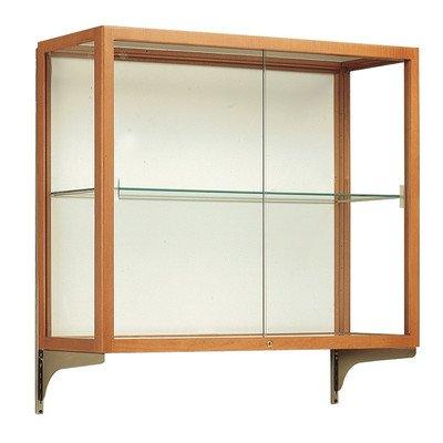 - Heirloom Series Wall Mounted Display Case Backing: Mirror, Wood Finish: Carmel Oak