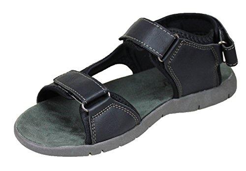 uomo man's Hanson Sandali scarpe linea shoes ciabatte mare casual nero infradito q1PtTdtw