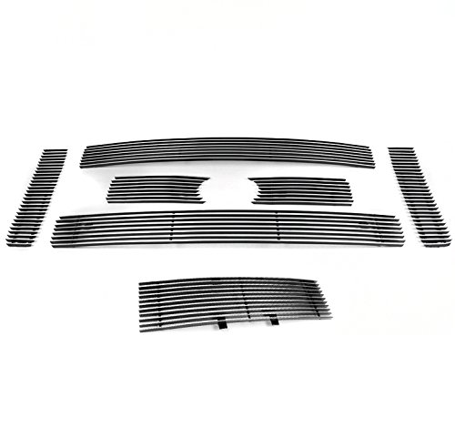 ZMAUTOPARTS 2009-2012 Ford F-150 King Ranch / Lariat Front Upper + Bumper Billet Grille Combo