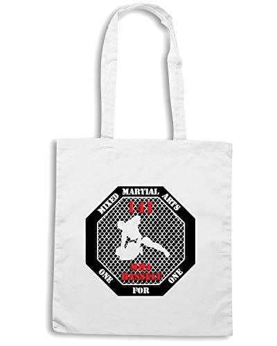 Shirt MARTIAL Speed Borsa MMA TAM0215 Shopper Bianca MIXED ARTS Z4S4dq