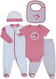 MLB Toronto Blue Jays 5-Piece Baby Layette Set 3 Months