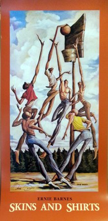 Ernie Barnes Skins & Shirts signed poster by 37 x 18 in.