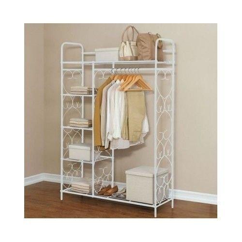 Generic t Shelf Orga Closet Shelf Shelf Org Storage Free-Standing Standing Cl Clothes Rack Storage Organizer Racks rment Clothin Garment Clothing