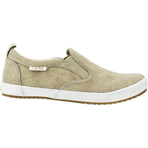 Taos Women's Dandy Sneaker Shoe, Khaki Washed Canvas, Size – 8