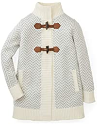 Girls' Herringbone Sweater Coat Made with Organic Cotton