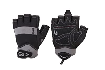 GoFit Men'S Elite Articulated Grip Gel Padded Glove with Interactive 12-Week Training Cd-Rom