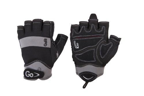 GoFit Men'S Elite Articulated Grip Gel Padded Glove with Int