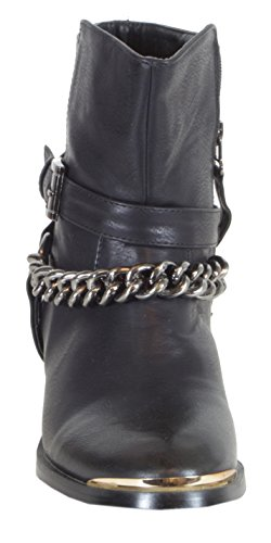trendBOUTIQUE - Botas De Vaquero de material sintético mujer negro - Kette - Schwarz