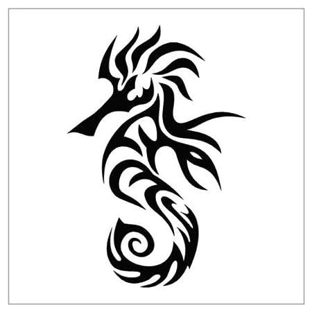 Tatuaje tribal Caballito de mar, etiqueta de vinilo pared calcoman ...