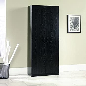 Sauder 410814 Storage Cabinet, Ebony Ash Finish