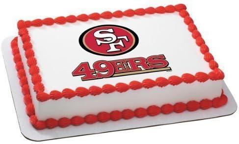 Enjoyable Amazon Com 1 X Nfl San Francisco 49Ers Edible Cake Image Topper Personalised Birthday Cards Paralily Jamesorg